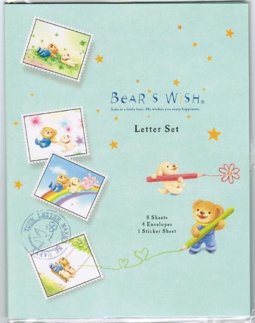 "Hallmark Japan ""Bear Wish"" Letter Set"