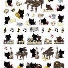 San-X Kutusita Nyanko Romantic Music Series Sticker with Gold Accent - #602
