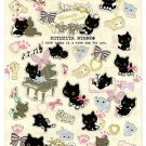San-X Kutusita Nyanko Romantic Music Sticker with Glitter