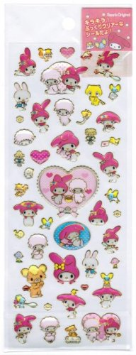 Sanrio My Melody Epoxy Sticker with Gold Accent