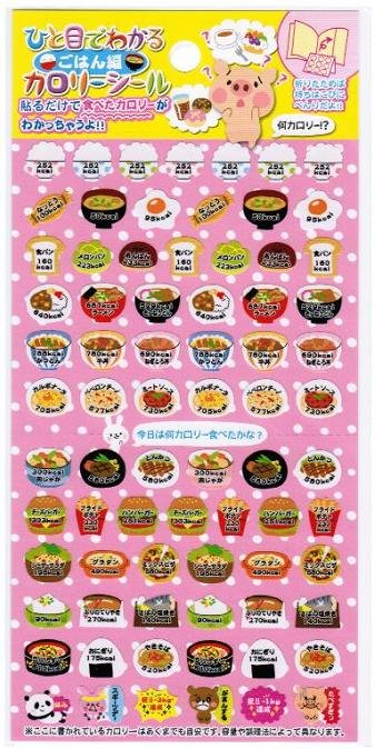 """Crux """"Calorie at a Glance - Food"""" Sticker - Pink"""