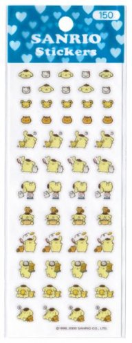 "Sanrio Pompom ""Purin"" Glittery Sticker"