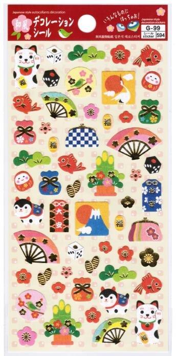 "Daiso Japan ""Japanese Decoration"" Washi Sticker"
