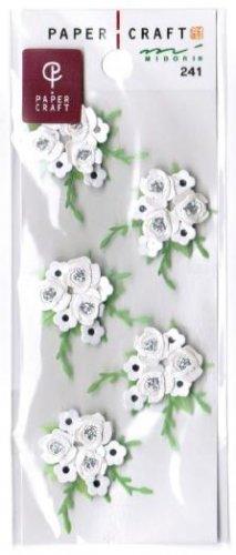 """Midori Paper Craft """"Wedding Bouquet"""" 3-D Handmade Sticker"""