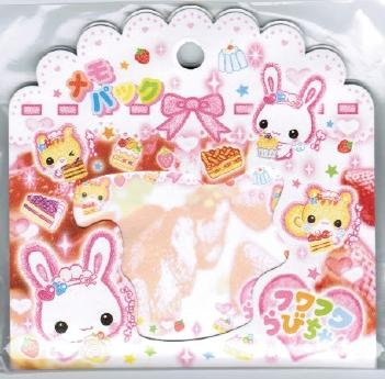 """Crux """"Fluffly Rabbit Chan"""" Note Pad"""