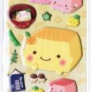 Hannari Tofu Spongy Sticker - Yellow (28228)