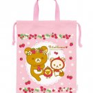 San-X Rilakkuma Strawberry Series (L) Drawstring Bag