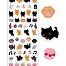 San-X Kutusita Nyanko Tail & Paw Series Glittery Sticker - #802