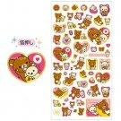 San-X Rilakkuma I Love You Series Sticker - #7001