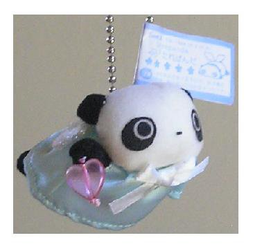 San-X Tare Panda Angel Hanging Plush - Blue