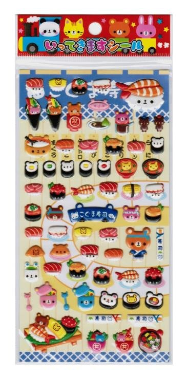 "Kamio Japan ""Bear Sushi Restaurant"" Spongy Sticker"