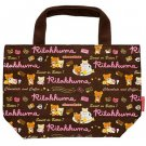 San-X Rilakkuma Chocolate & Coffee Series Brown Canvas Tote Bag