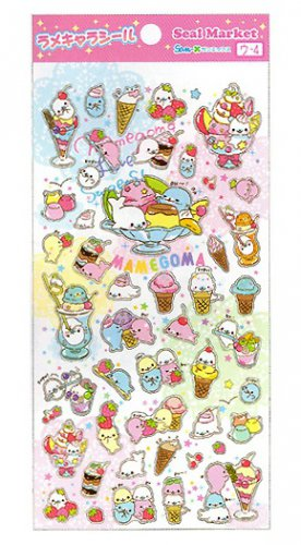 "San-X Mamegoma ""Fruit Parfait"" Series Glittery Sticker"