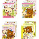 San-X Rilakkuma Happy Holiday Picnic Series Mini Memo - Set of 4