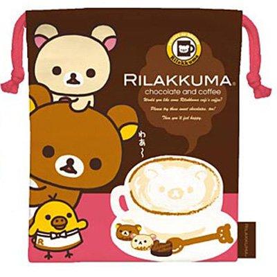 San-X Rilakkuma Chocolate & Coffee Series Drawstring Bag - #101