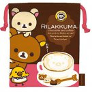 San-X Rilakkuma Chocolate & Coffee Series Drawstring Bag - #101