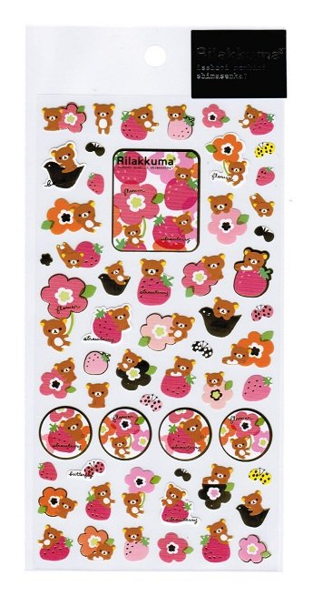 San-X Rilakkuma Scandinavian Series Sticker - #601