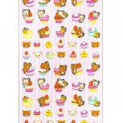 San-X Rilakkuma Motif Seal Sticker - Sweets