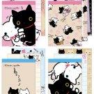 San-X Kutusita Nyanko White Cat Series Mini Memo Pad - Set of 4