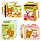Set of 4 San-X Rilakkuma Forest Series Mini Memo