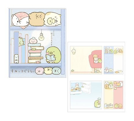 San-X Sumikko Gurashi Sticky Notes Book - Blue