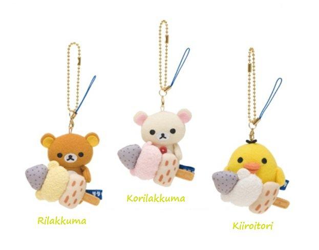 San-X Rilakkuma Lawson Oden Series Hanging Plush Set - Oden Stick