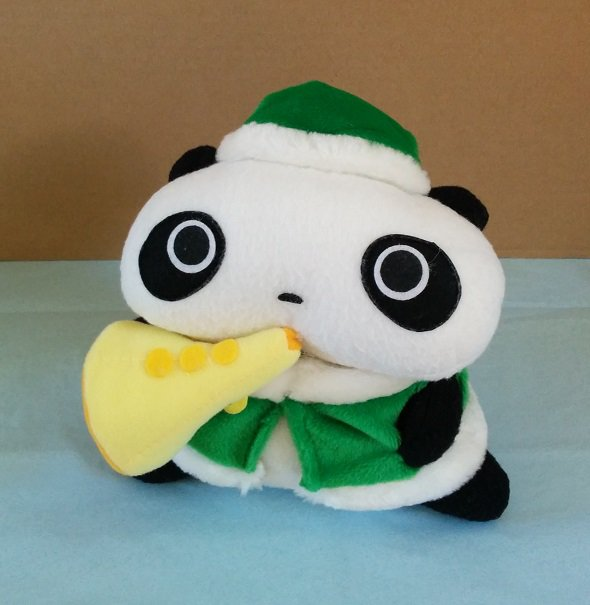 San-X Tare Panda Christmas Plush - Trumpet
