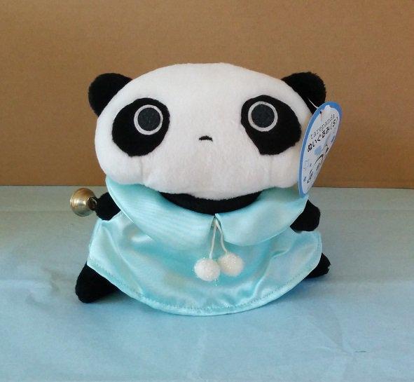 San-X Tare Panda Blue Angel Plush with Bell