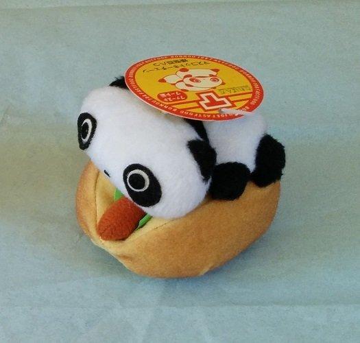 San-X Tare Panda Fast Food Series Hanging Plush - Hot Dog