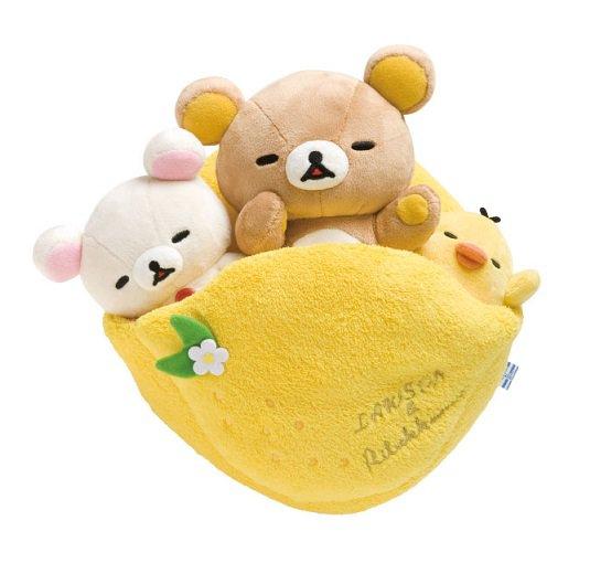 San-X Rilakkuma Loppi LR Fresh Lemon Series Plush