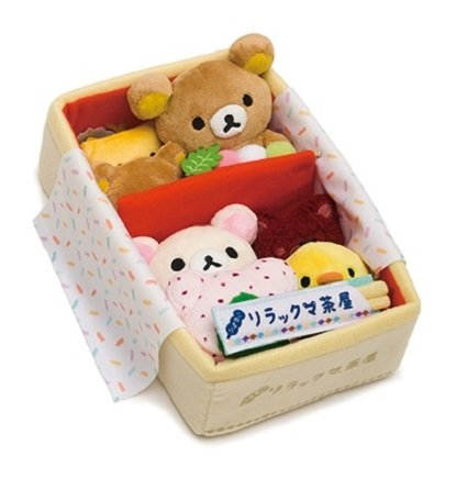 San-X Rilakkuma Store LR Tea House Series Plush - Bento Box