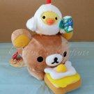 San-X Rilakkuma Store LR Egg Series Plush - Rilakkuma & Kiiroitori