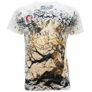 ARTFUL ROCK ART Size M Tattoo Street Men T-SHIRT White a06