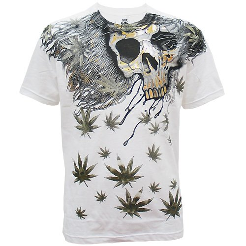 ARTFUL ART BIKER Size XXL Tattoo Street Men T-SHIRT White a04