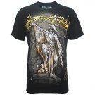 ETERNITY HARD BIKER Size L Black Tattoo Street T-SHIRT Men e03