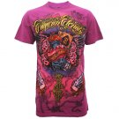 ETERNITY HEAVY PUNK Size L Purple Tattoo Street T-SHIRT Men e05
