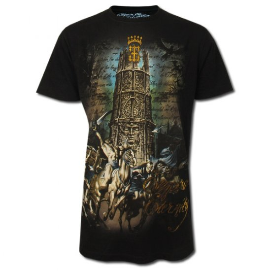 ETERNITY BIKER ROCK Size L Black Tattoo Street T-SHIRT Men e16