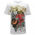MINUTE MIRTH ROCK ART Size L Street Tattoo T-SHIRT m24