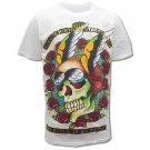 MINUTE MIRTH PUNK SKULL ART Size L Street Tattoo T-SHIRT m23