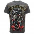 MINUTE MIRTH ROCK SKULL BIKER Size M Tattoo T-SHIRT Men m10