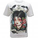 MINUTE MIRTH RETRO ART Size M Tattoo T-SHIRT Men m30