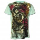 VANTAGE Punk Samurai Art  Size M Tattoo Street New T-SHIRT Men v24