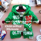 100% NEW Unisex Green Zip Hoodies - Wholesale Children's Wear