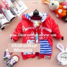 100% NEW Unisex Red Zip Hoodies - Wholesale Children's Wear