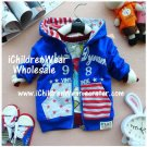 100% NEW Unisex Blue Zip Hoodies - Wholesale Children's Wear