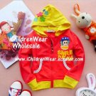 100% NEW Unisex Monkey Red Zip Hoodies - Wholesale Children's Wear