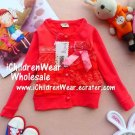 100% NEW Girls Sweater Orangr Red - Wholesale Children's Wear