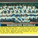 1956 Topps baseball set # 146 Washington Nationals team card
