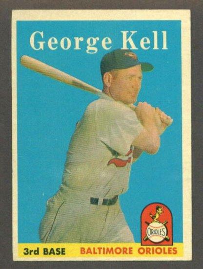 1958 Topps baseball set # 40 George Kell HOF Baltimore Orioles