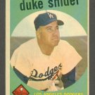 1959 Topps baseball set # 20 Duke Snider HOF Los Angeles Dodgers